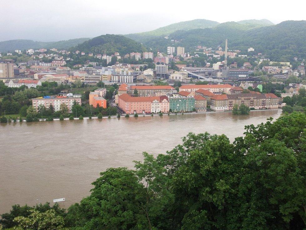 Povodně v Ústí z Větruše.