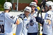 Hokejbalisté Elby ilustrační. Foto: Miroslav Vlach