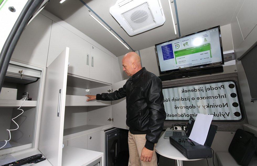 Představení pojízdné informační kanceláře Dopravy Ústeckého kraje