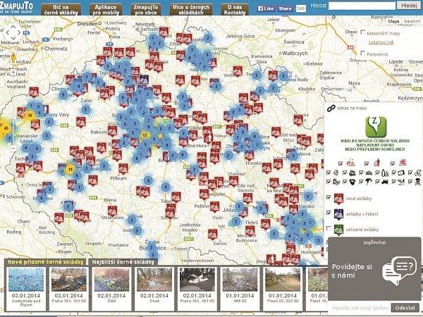Mapování černé skládky pomocí mobilu.