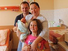 Přemysl Jan Šebek se narodil v ústecké porodnici 26.9.2016 (21.08) Martině Vyskočilové. Měřil 49 cm, vážil 3,04 kg.