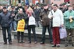 Demonstrace proti komunistům
