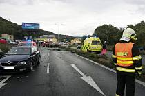 Dopravní nehoda v ústecké Žižkově ulici v pondělí 31. srpna