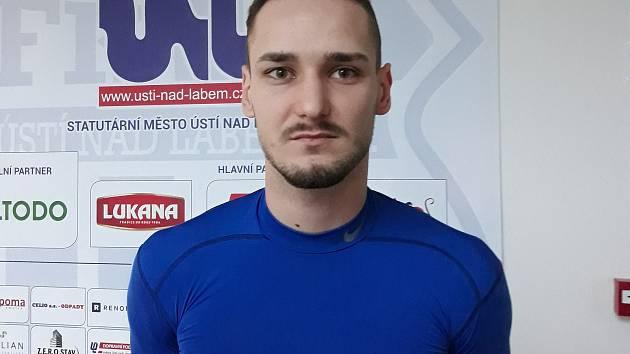 Fotbalista FK Ústí nad Labem Šimon Šmehýl. Foto: Jan Prošek