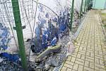 Tenistům ve Všebořicích někdo podpálil nafukovací halu.