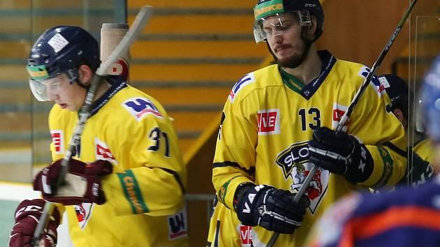 Hokejový zápas Ústí a Litoměřice, hokejisté Slovan Ústí, ilustrační