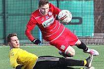 Fotbalisté Ústí (červení) v přípravě nestačili na Litoměřice.