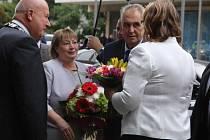 Prezident Miloš Zeman přijel již popáté do Ústeckého kraje.