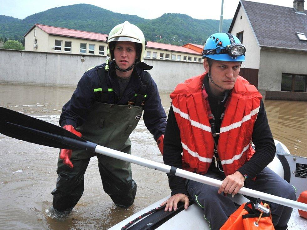 Povodeň ve Vaňově, čtvrtek 6. června 2013. Ilustrační foto.
