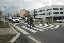Křižovatka u nemocnice.