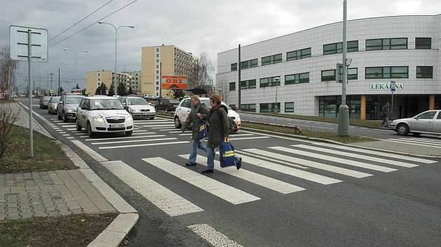 Křižovatka u nemocnice. Ilustrační foto.