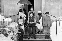 Snímek z roku 1940 z obce Lipová
