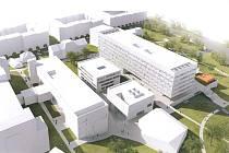 Takto vypadal jeden z původních návrhů kampusu.