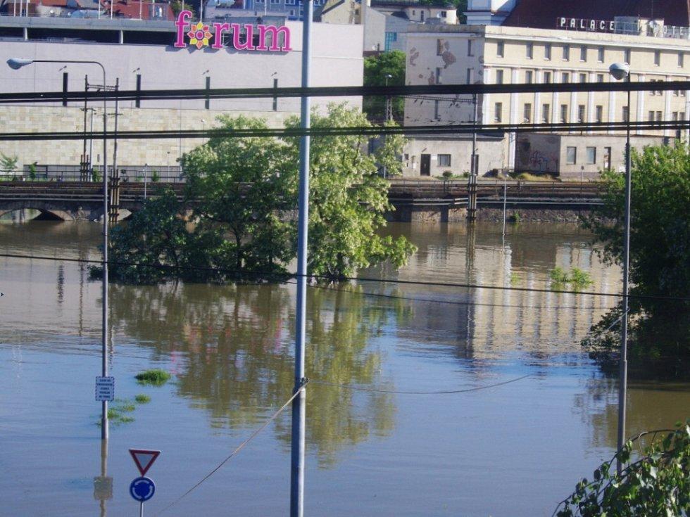 Voda v Ústí nad Labem, středa ráno.