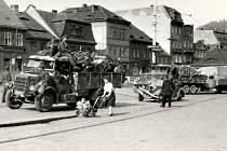 Z pohraničí Němci odcházeli s armádou ještě před koncem bojů.