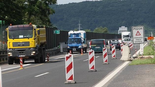 Část dálnice D8 u Ústí nad Labem