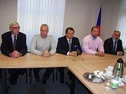 Tisková konference v sídle NS-LEV 21 v Ústí nad Labem.