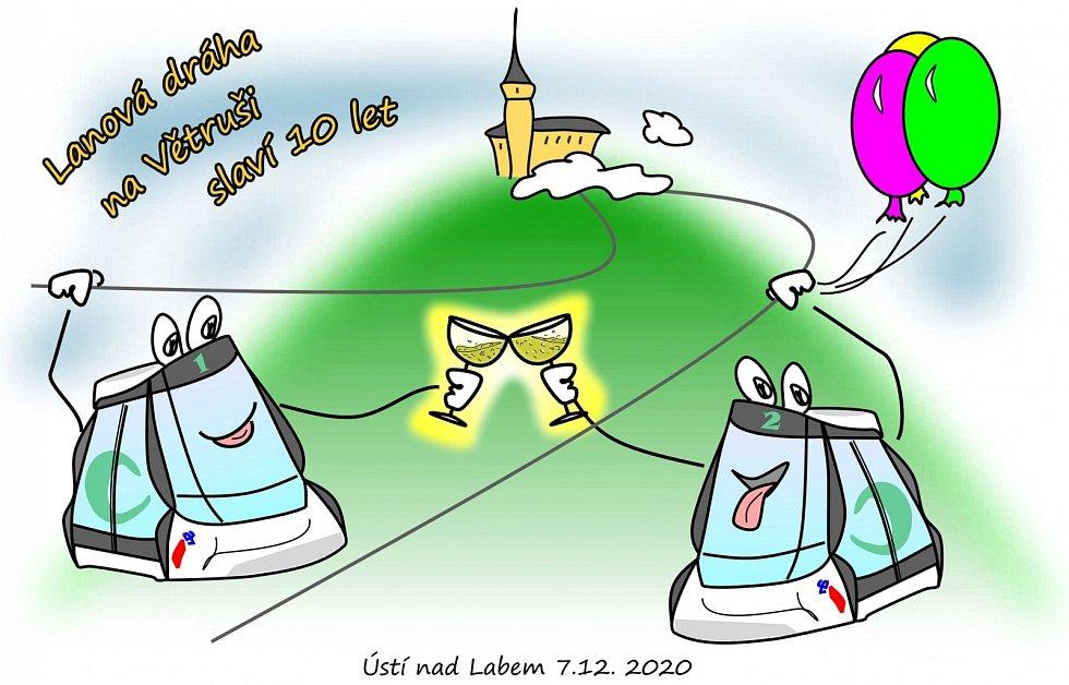 7. prosince 2020 oslaví ústecká lanovka na Větruši rovných deset let provozu