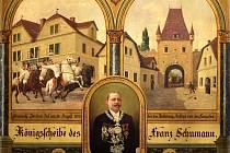 Malba na střeleckém terči z roku 1903 je vyobrazením smrti dragouna Jordána. Nachází se ve sbírkách Muzea města Ústí nad Labem.
