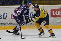 Hokejový zápas mezi Ústím a Litoměřicemi.
