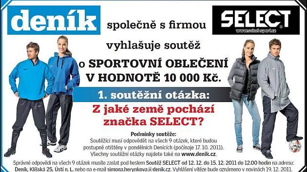 Vyhrajte s Deníkem a firmou Select oblečení za deset tisíc korun!