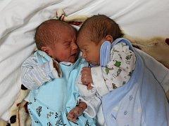 Jan a František Linkovi se narodili Kateřině Linkové z Chabařovic 21. října v 1.19 / 1.21 hod. Měřili 43 / 43 cm, vážili 1,99 / 1,15 kg
