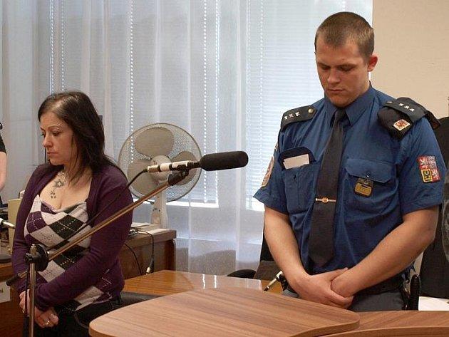 Drahomíra Sukdoláková v okamžiku, kdy se dozvěděla o vysokém trestu, který ji čeká.