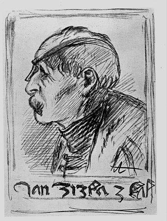 Jan Žižka, jak si ho představoval Mikoláš Aleš.
