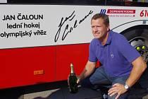 Svůj trolejbus v září pokřtil i hokejista Jan Čaloun. Ilustrační foto.