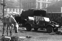 Obrázek z Ústí z května 1945.