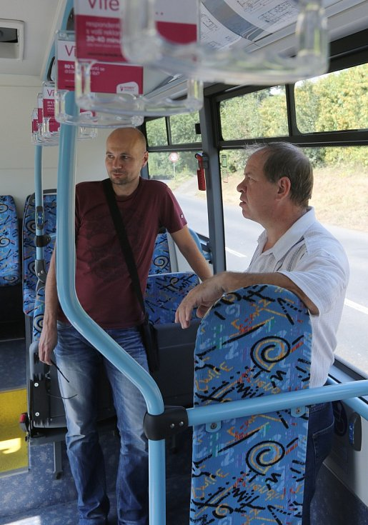Zkušební jízda elektrobusu.