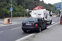 Nehoda v Božtěšické ulici v Ústí nad Labem