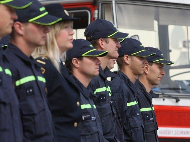 Profesionální hasiči Ústeckého kraje složili služební slib ve Všebořicích.