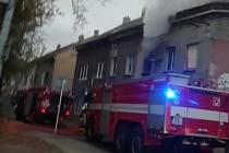 Požár v Matiční ulici.