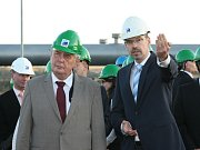 Prezident Miloš Zeman na návštěvě v Ústeckém kraji.