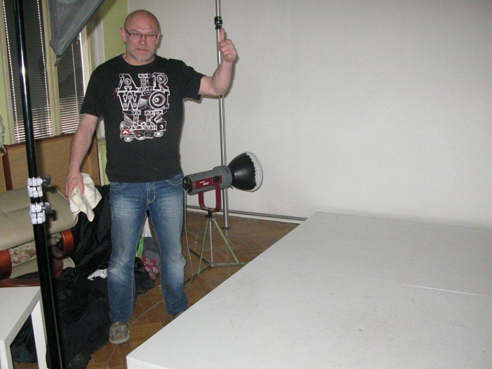Petr Berounský je připraven na akci.