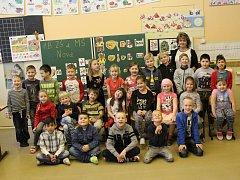 1.B, ZŠ Nová, Kamenný vrch – Střekov. Třídní učitelka Marie Lejčková.