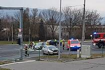 Dopravní nehoda v ústecké ulici Sociální péče