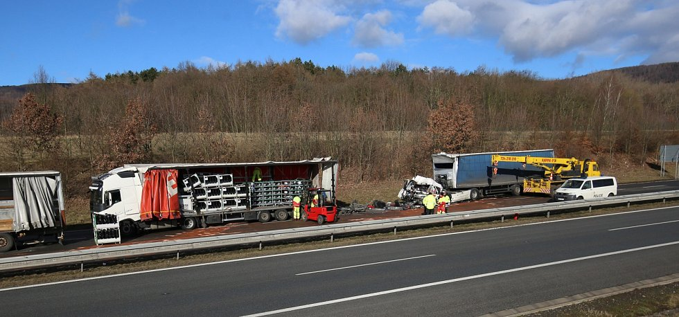Tragická nehoda na dálnici D8