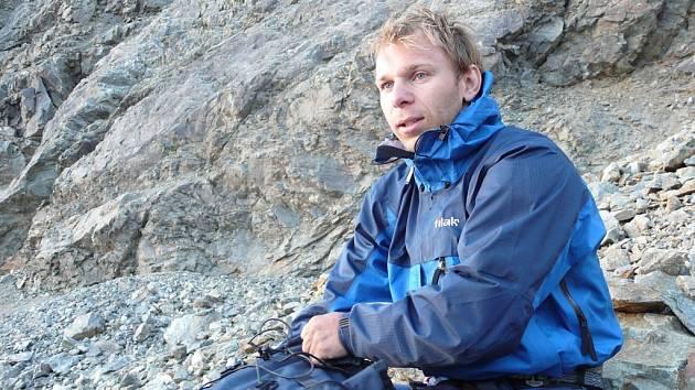 Tragicky zesnulý horolezec Miloslav Hejný na snímku z Kavkazu.