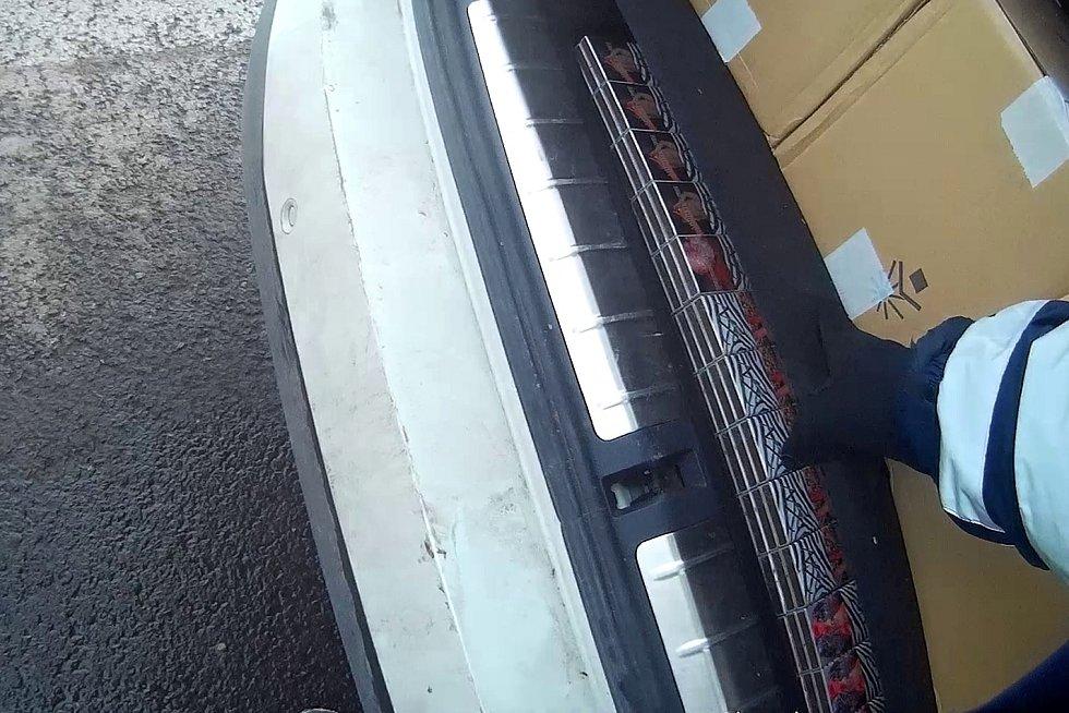 Celníci našli při kontrole v Ústí ve voze desítky tisíc kusů cigaret s běloruskými kolky