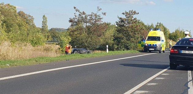 Dopravní nehoda u Chlumce.