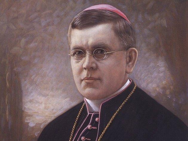 Portrét Antona Aloise Webera, 16. litoměřického sídelního biskupa.