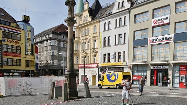Mírové náměstí v Ústí nad Labem. Ilustrační foto