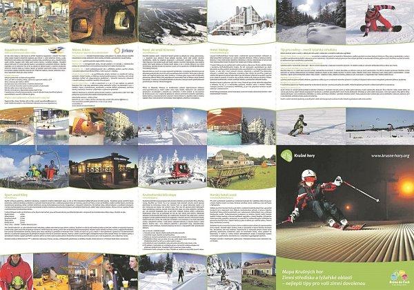 3D MAPA Krušných hor: Zimní střediska a lyžarské oblasti + nejlepší tipy pro vaši zimní dovolenou. Doprovází ji isnímky ze soutěže uspořádané DA Krušné hory.