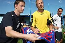 Fotbalové exhibice týmu Jiřího Jarošíka s jeho mateřským týmem z Chuderova.