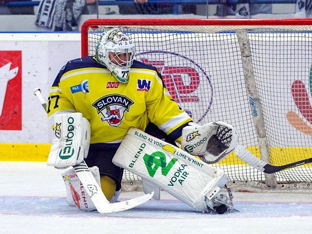 Brankář Slovanu Martin Volke.