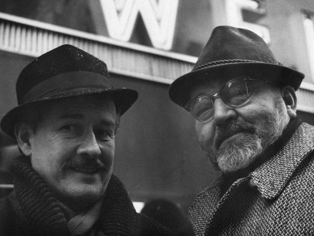Voskovec a Werich, klauni, myslitelé, bojovníci.