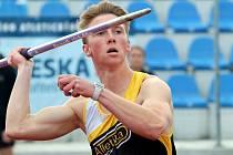Hod oštěpem ve 2. kole I. ligy vyhrál Jonáš Fiedler, litvínovský atlet hostující v týmu AC Ústí n/L hodil 64.04 m.