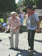 Oslav se v Petrovicích účastnil také starosta obce Zdeněk Kutina